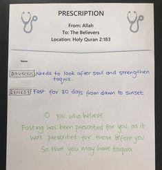 Prescription for Fasting