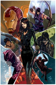 superheroes-or-whatever:  Black widow past present and future by *Peter-v-Nguyen