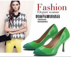 时尚精品女鞋馆,2015春新款真皮欧美风单鞋女miu同款浅口尖头细跟高跟套脚女鞋