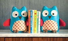 Bookholders for a bedroom. So sweet!