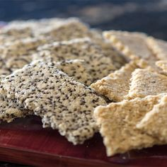 One recipe, two different raw, vegan, almond crackers! Made with rosemary, these crackers are everyday gourmet treats.