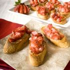 Strawberry Bruschetta.....What to do with all those fresh picked strawberries.