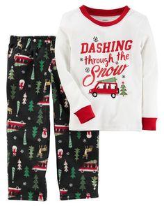 2-Piece Christmas Cotton   Fleece PJs. Baby Boy PajamasToddler ... ea7c60204
