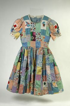 Patchwork dress, 1942 - V&A Museum of Childhood Victoria and Albert Museum Made for child by her mother the night b4 a last minute party invitation.