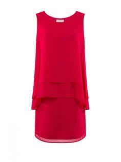 Robe chic fluide framboise - robes femme - naf naf