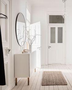 via Coco Lapine Design blog White Storage Cabinets, Black Kitchen Island, Black Kitchens, Other Rooms, White Walls, Beautiful Homes, Entrance, Palette, Beige