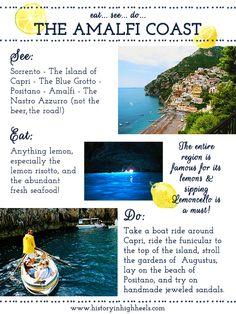 History In High Heels: La Costiera Amalfitana: The Amalfi Coast