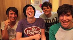 Dan Howell, Phil Lester, Chris Kendall, and PJ I can't pronounce your last name.