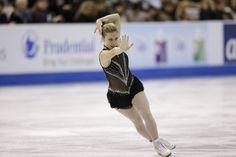Ashley Wagner, Skate America 2013, Black Figure Skating / Ice Skating dress inspiration for Sk8 Gr8 Designs.