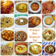 ~15 Soup & Stew Recipes for Fall~