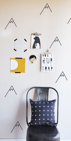 Die Cut Mountain WALL DECAL par TheLovelyWall sur Etsy