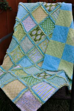 making quilts with minky.  love it.