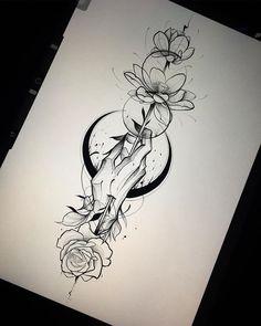 tattoo art Gabriel Chapel sur Ins - tattoos Body Art Tattoos, Hand Tattoos, Cool Tattoos, Pretty Tattoos, Wrist Tattoo, Awesome Tattoos, Sexy Tattoos, Drawing Tattoos, Flower Tattoo Drawings