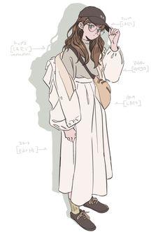 Cute Art Styles, Cartoon Art Styles, Cute Cartoon Wallpapers, Animes Wallpapers, Aesthetic Art, Aesthetic Anime, Cute Drawings, Art Drawings Sketches, Fille Anime Cool