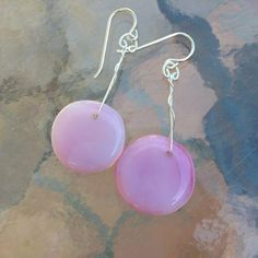 LollyDrop Earrings-Pink by Cocoon. American Made. See the designer's work at the 2015 American Made Show, Washington DC. January 16-19, 2015. americanmadeshow.com #earrings, #jewelry, #glass, #americanmade, #pink