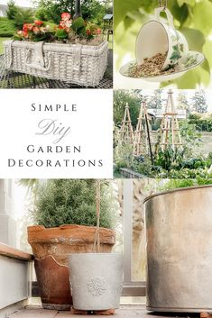 Simple DIY Garden Decorations - She Holds Dearly Diy Garden Decor, Garden Art, Garden Design, Garden Decorations, Best Greenhouse, Backyard Greenhouse, Pallet Greenhouse, Greenhouse Ideas, Farmhouse Garden