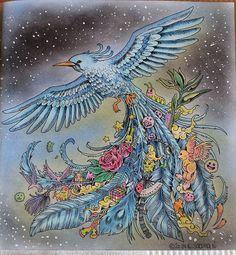 Ein weiteres Bild aus #animorphia ist fertig♥♥blue bird.  #animorphia #kerbyrosanes #ausmalenfürerwachsene #coloringbookforadults #colouringinforgrownups #colouringbook #kleurenvoorvolwassenen #ausmalbuch #marcoraffine #marcoraffinepencils #mycreativeescape #colouringforadults #kleurboek