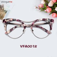 Floral Cat Eye Prescription Eyeglasses ► Floral eyeglasses with high quality lenses in the magnification that's right for you ► COMFORTABLE, lightweight and sturdy for all day wear ► ATTRACTIVE on trend cat eye shape Cute Glasses, Glasses Frames, Eye Shapes, Eyebrow Shapes, Bleached Hair Repair, Eye Prescription, Eyewear Trends, Fashion Eye Glasses, Cat Eye Frames