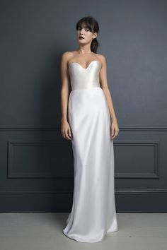 AVA SATIN SKIRT & LORETTA SATIN CORSET | WEDDING DRESS BY HALFPENNY LONDON