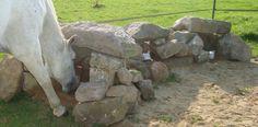Mineral blocks in the rocks