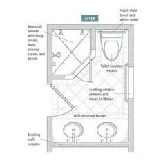Full bathroom dimensions with a bath or large shower 8ft for 6x7 walk in closet