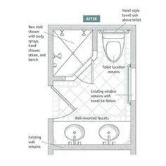 Standard 9ft x 7ft master bathroom floor plan with bath for Bathroom ideas 9x6