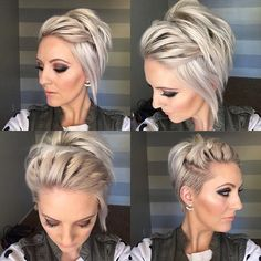 Kurze Haare - Long Undercut Pixie - Perfectly Imperfect Messy Braids for Short Hair - Photos - Wallpaper Pinme Short Hair Styles Easy, Braids For Short Hair, Short Hair Cuts, Messy Braids, Short Pixie, Pixie Cuts, Asymmetrical Pixie, Asymmetrical Haircuts, Long Haircuts