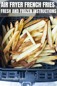 air fryer recipes healthy Here's how I make Crispy Air Fryer French Fries from Fresh or Frozen. Fries made in the Air Fryer are known to be healthy, crispy, and delicious. Whether homemade or previously frozen, you'll be hooked on air frying fries. Air Fryer Recipes Wings, Air Fryer Recipes Appetizers, Air Fryer Recipes Snacks, Air Fryer Recipes Low Carb, Air Frier Recipes, Air Fryer Recipes Breakfast, Air Fryer Dinner Recipes, Snacks Dishes, Food Dishes
