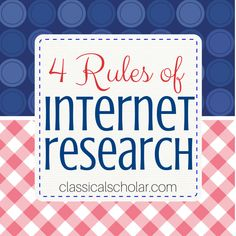 Internet Research Can Be Overwhelming Homeschool high school teens in the 21st Century have an enormous wealth of internet data available for research papers, essays, science fair projects, and deb…