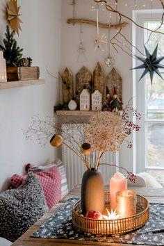 Cosy Christmas, Christmas Room, Handmade Christmas, Xmas, Living Room Decor Video, Autumn Cosy, Bohemian Room, Fall Home Decor, Christmas Inspiration