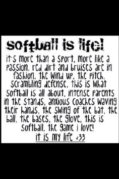 Softball is my passion