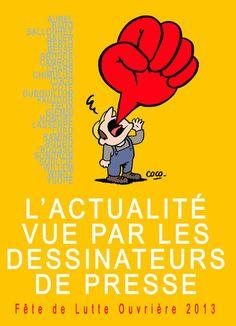 L'actualité vue par les dessinateurs de presse : fête de Lutte ouvrière 2013 #dessin_de_presse #cartoons #caricature #politique #satire