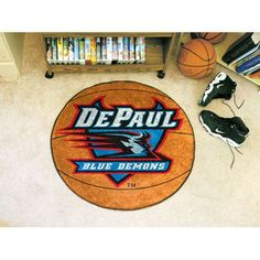 DePaul Blue Demons NCAA Basketball Round Floor Mat (29)