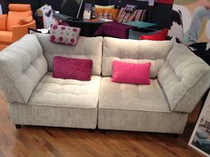 Two corner modules make a modern knole sofa and quickly converts into an occasional single bed.