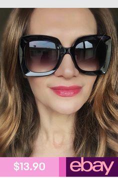 da1d96fb667e Large Square Brown Tortoise Green Lens OMG Daisy Glasses Sunglasses 6027  T.GR in Clothing