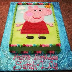 Peppa Pig Birthday Cake Peppa Pig is usually a Indian toddler super-hero tv set series 4th Birthday Parties, 3rd Birthday, Birthday Celebration, Birthday Ideas, Peppa Pig Birthday Cake, Peppa Pig Cakes, Peppa Pig Party Supplies, Cupcakes, Picnic Recipes