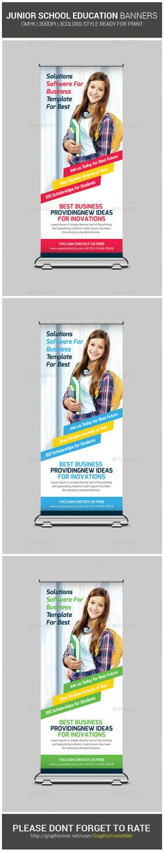 Junior School Education Roll-Up Banners - Signage Print Templates