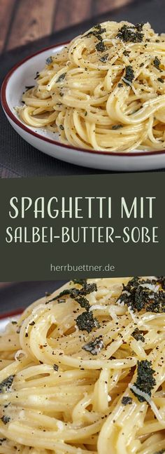 Spaghetti with fried sage on butter and lemon cream sauce. The post Spaghetti & appeared first on Food Monster. Greek Diet, Lemon Cream Sauces, Lemon Sauce, Greek Recipes, Pizza Recipes, Crockpot Recipes, Easy Recipes, Vegetarian Recipes, Dinner Recipes