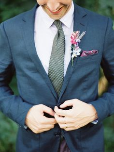 Groom's attire: Ted Baker - French Chateau wedding by Erich McVey - via magnoliarouge