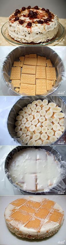 Cake without baking with sour cream Baking Recipes, Cake Recipes, Snack Recipes, Dessert Recipes, Russian Cakes, Easy Cake Decorating, Russian Recipes, Sweet Cakes, Pain