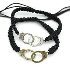 Fashion handcuffs Bracelet. Weave handmade unisex Charm bracelet .knitted freedom bracelet