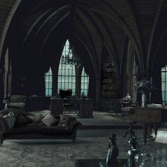 Both cozy and bookish with Gothic flair.