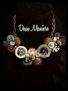Vintage Necklace de pedreria y botones. Deuxmaniere@gmail.com