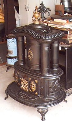 Antique parlor stove