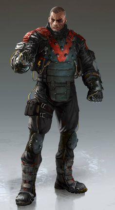 High-Res Artwork of Bane, Electrocutioner from Batman: Arkham Origins