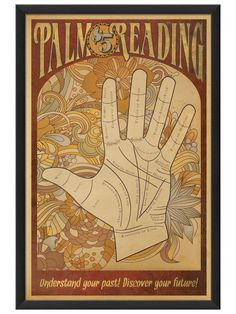 Artwork Enclosed  Palm Reading Poster
