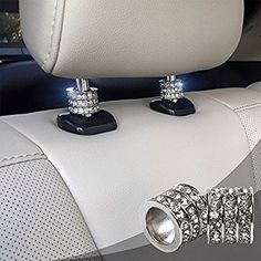 Crystal Car Seat Headrest Collar Charms, Rhinestone Car Accessory, Car Interior Seat Decoration Accessories For Women, Car Bling Charms - Auto Wissensbasis Bling Car Accessories, Car Interior Accessories, Car Interior Decor, Car Accessories For Girls, Range Rover Accessories, Interior Design, Vehicle Accessories, Bedroom Accessories, Vintage Accessories