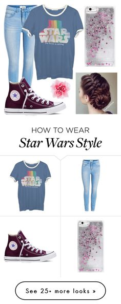 """Untitled #78"" by thatgirloverthere123 on Polyvore featuring Junk Food Clothing, Converse and Skinnydip"
