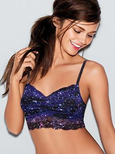 PINK Lace Bralette in Galaxy $29.50