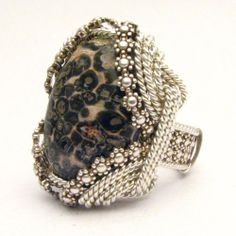 Handmade Sterling Silver Berry Wire Wrap Leopard Skin by JandSGems, $250.00